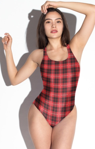 scottish plaid tartan bathing suit swimsuit one piece
