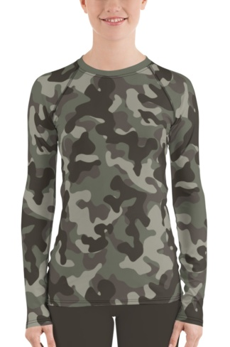 green camouflage rash guard girls womens swim wear