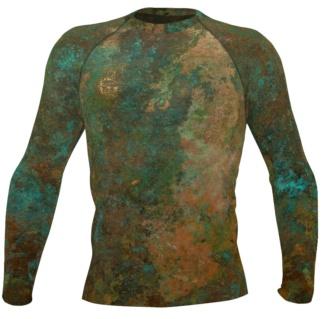 metal copper antique men's rash rash guard exercise tights