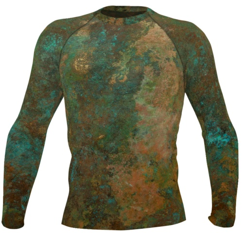 metal copper antique men's rash rash guard exercise tights