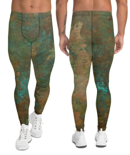metal copper antique men's leggings exercise tights