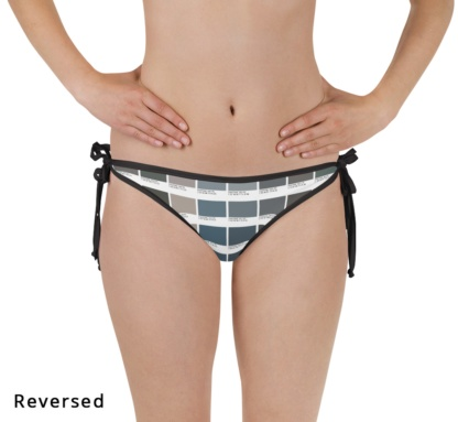 pantone color graphic bikini bottoms