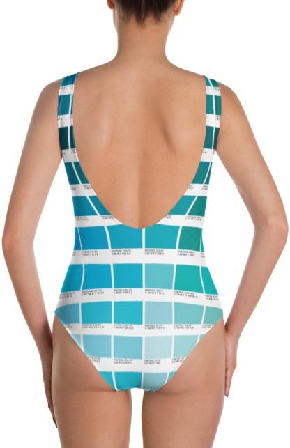 Color Pantone bathing suit one piece