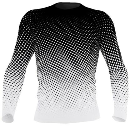 UV protection Surf Top 38-40 UPF - Halftone polka dots rash guard for men exercise top
