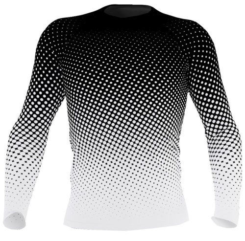 UV protection Surf Top 38-40 UPF - Halftone polka dots rash guard for men exercise top