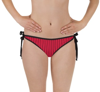 Classic Pinstripe Pinstripes bathing suit two piece swimsuit bikini bottom