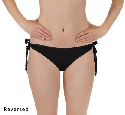Black Reversible Bikini bottom Two Piece