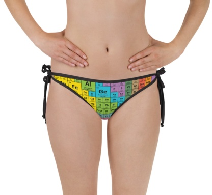 Chemistry formula periodic table of elements bikini bottom bathing suit swimsuit