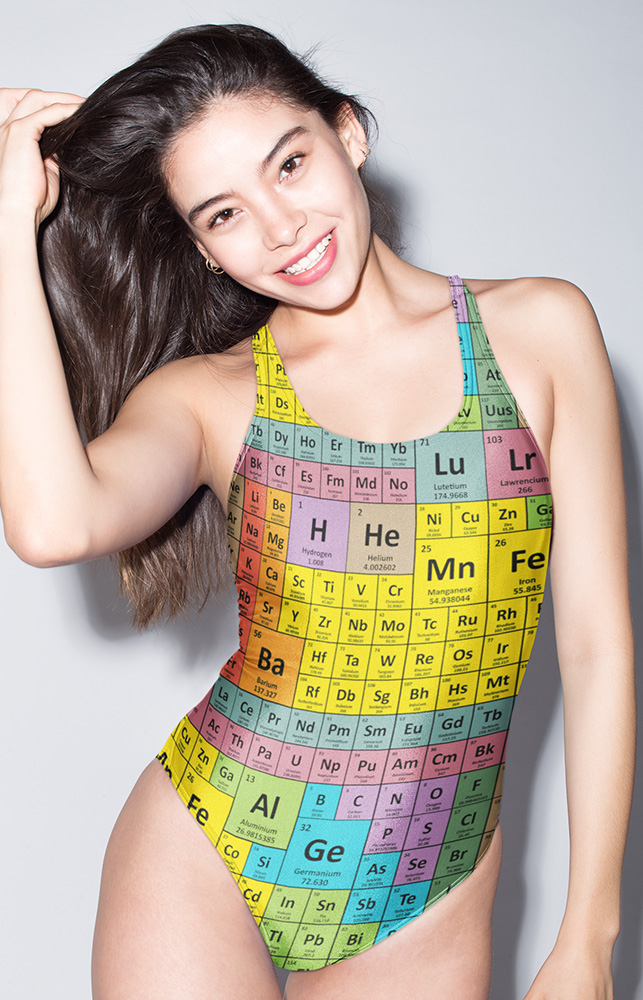 Chemistry formula periodic table of elements two piece bathing suit one piece