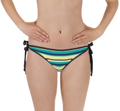 Pinstripe hot stripe stripes two piece bathing suit swimsuit reversible bikini