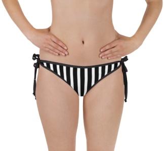 Pinstripe hot stripe Vertical stripes two piece bathing suit swimsuit bikini bottoms