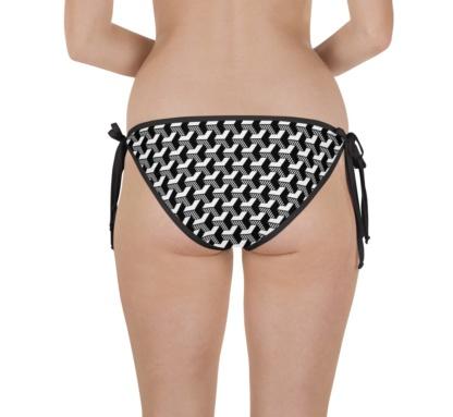 Isometric Striped 3D two piece bikini top and bottom
