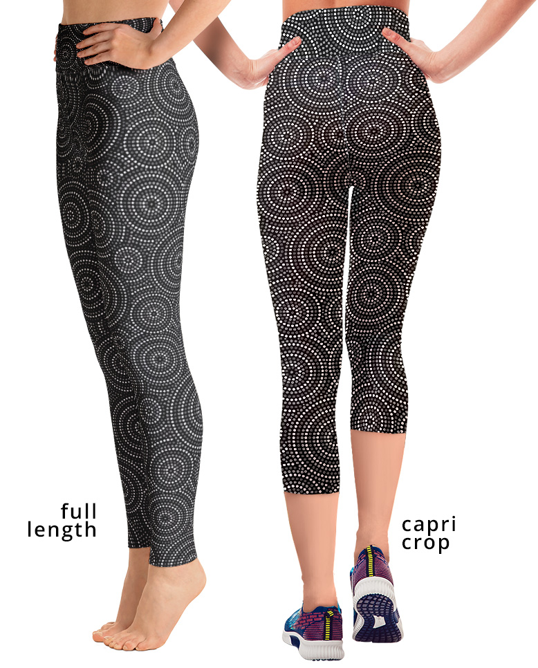 Aboriginal Concentric Circles Women's yoga leggings