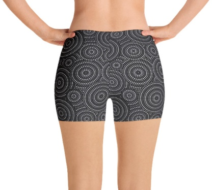 Aboriginal Concentric Circles Women's jogging running exercise spandex shorts