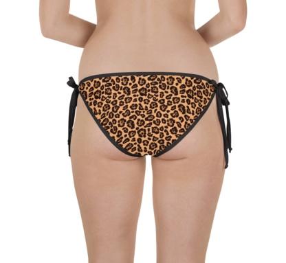 beige leopard skin bikini two piece bathing suit swimsuit
