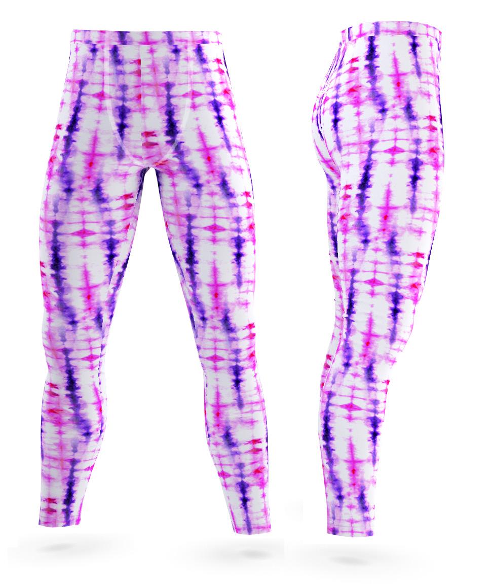 good quality low price sale 50% off Retro Tie Dye Leggings for Men