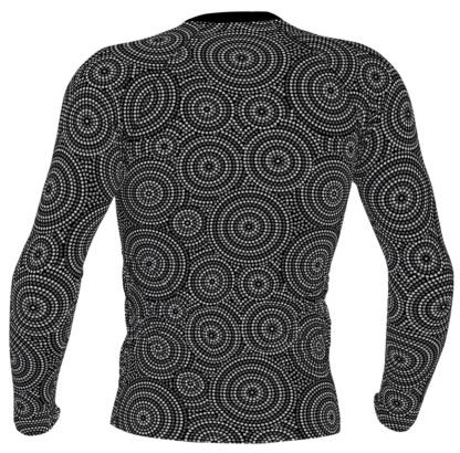 Aboriginal Concentric Circles mens's Long Sleeve Rash Guard
