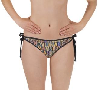antique letterpress prepress letter letters bikini bottoms lettering two piece bathing suit swimsuit