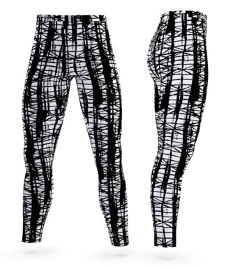 smeared ink grunge grungy leggings for men