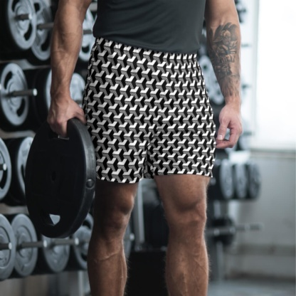 Isometric Striped 3D men's working running gym athletic shorts