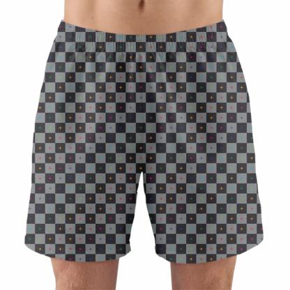 animate render uv 3d grid men's working running gym athletic shorts