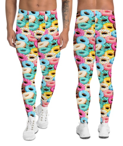 Buy these sweet tooth donut yoga leggings for men workout pants
