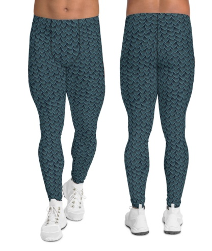 green dragon scales men's exercise pants tights leggings compression