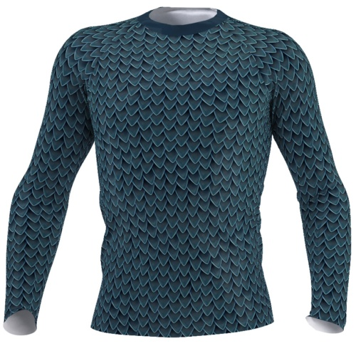 green dragon scales men's long sleeve rash guard