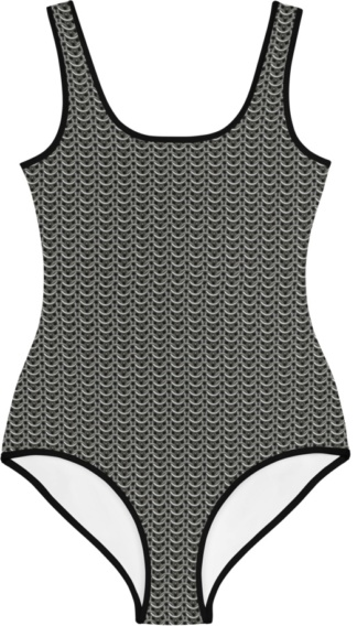 gothic metal chainmail chain mail kids bathing suit swimsuit for children
