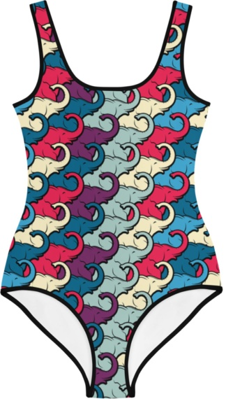 colorful elephants elephant trunk kids bathing suit swimsuit for children