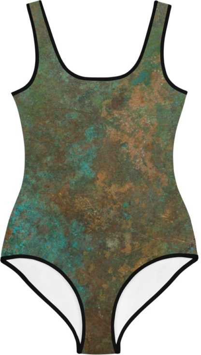 gothic metal rust rusty copper blue gold kids bathing suit swimsuit for children