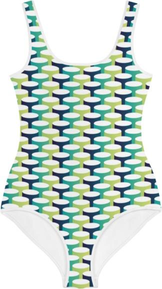 blue green tube tubes 3d kids bathing suit swimsuit for children
