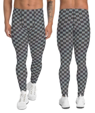 3d uv grid animator animate background gray leggings men