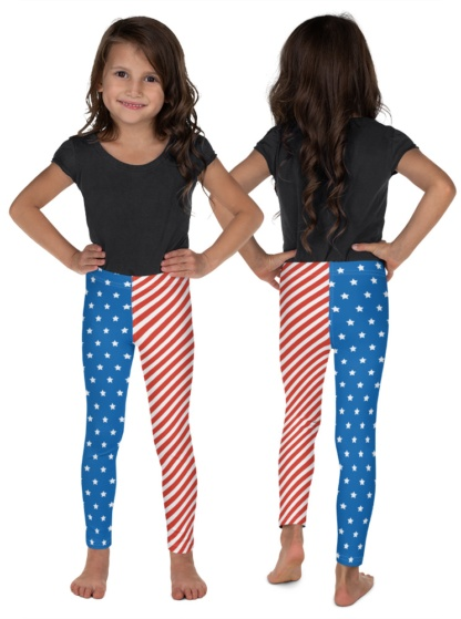 usa american flag leggings for kids 4th of july forth