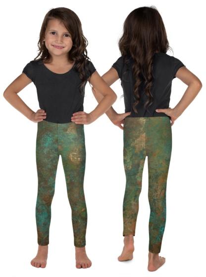 Metallic copper rust leggings for Children