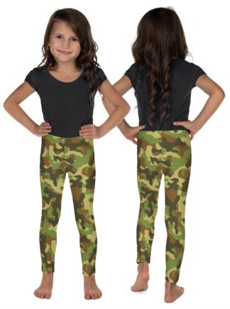 camouflage leggings for children green camo