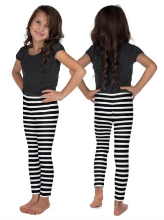 Kids Designer striped leggings for Children horizontal Halloween