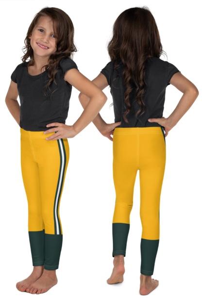 Wisconsin Green Bay Packers NLF Football Leggings for Tailgating kids children