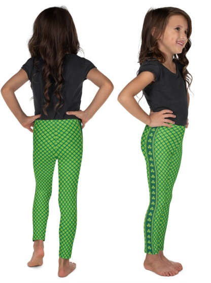 St. Patrick's Day Leggings - St Paddys Leggings - Shamrock Leggings - Green Leggings - girls, kids & Boys leggings - Irish Ireland holiday
