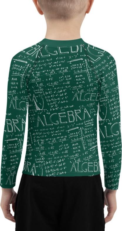 Chalkboard Algebra Math Kids rash guard