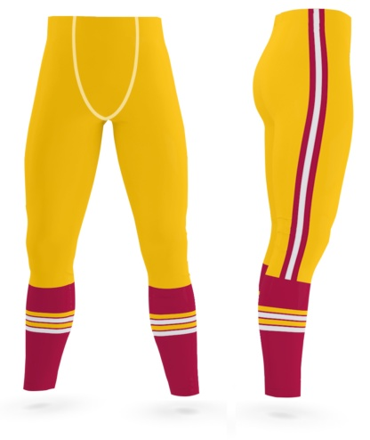 DC Washington Redskins Game Day Men's Uniform Leggings exercise tights gold