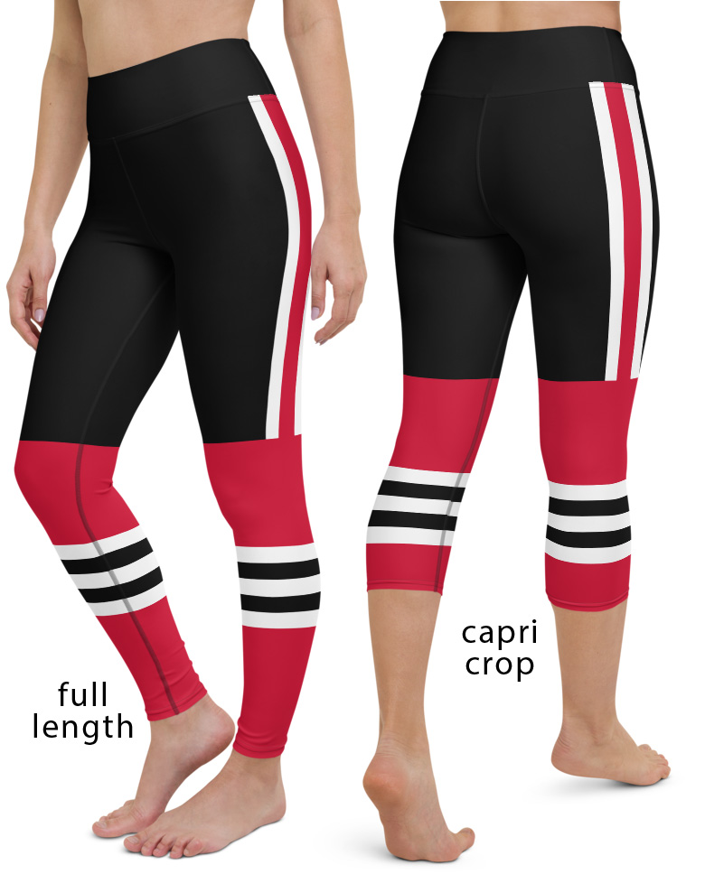 Chicago Blackhawks NHL Hockey Uniform Yoga Leggings