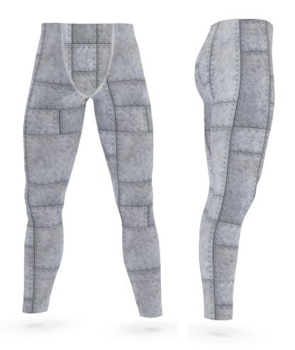 Metal Grill Metallic Rivets Men's Leggings Exercise Pants
