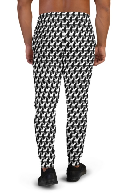 Isometric Striped 3D Joggers for Men