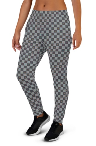 3D UV Grid Animation Joggers for Women
