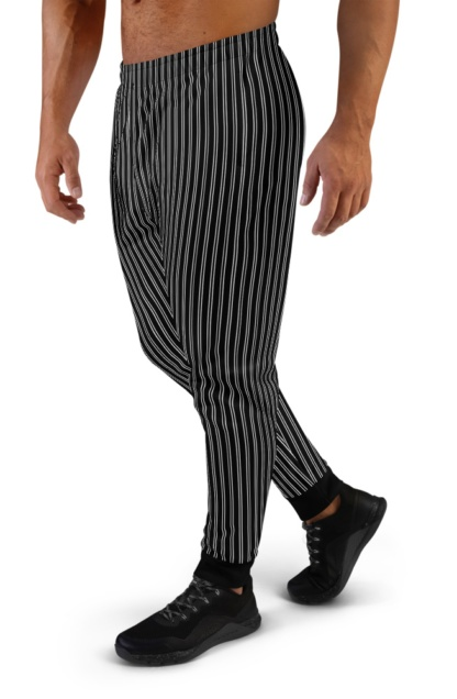 Classic Pinstripe Joggers sweat pants tracksuit track running for Men