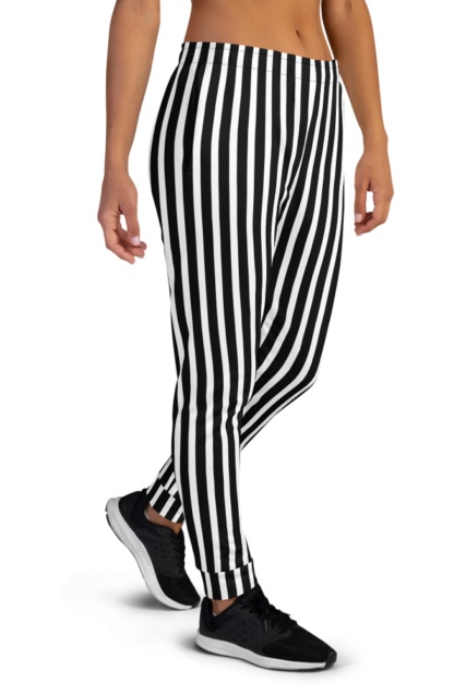 Referee Pants Vertical Strip Joggers for women