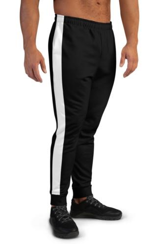 Classic Side Stripe Joggers for Men Green Khaki Orange Black White Stripes Striped