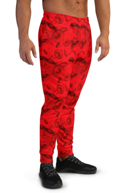 Red Blood Cell Joggers Doctor Nurse blood cells pattern red
