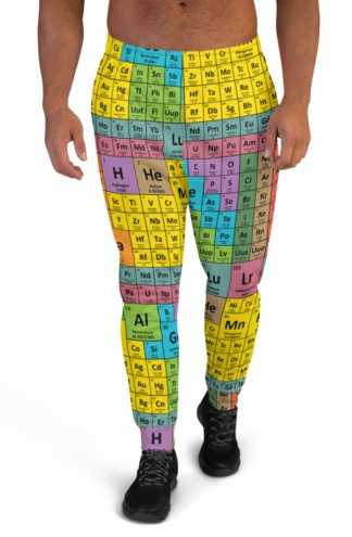 Periodic Table of Elements Joggers for Men science chemical chemicals tables math chemistry sweatpants sweats tracksuit